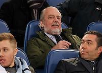 Aurelio De Laurentisdurante l'incontro di calcio di Serie A  Lazio Napoli   allo  Stadio Olimpico  di Romai , 2 Dicembre 2013<br /> Foto Ciro De Luca