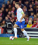Branislav Ivanovic of Serbia during the FIFA World Cup Qualifying match at the Cardiff City Stadium, Cardiff. Picture date: November 12th, 2016. Pic Robin Parker/Sportimage