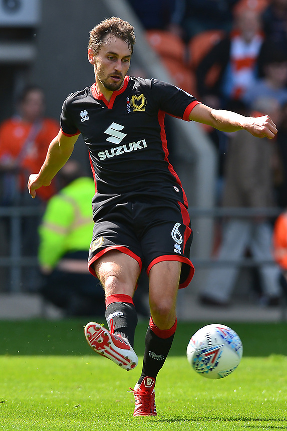 Milton Keynes Dons' Edward Upson in action<br /> <br /> Photographer Richard Martin-Roberts/CameraSport<br /> <br /> The EFL Sky Bet League One - Blackpool v Milton Keynes Dons - Saturday August 12th 2017 - Bloomfield Road - Blackpool<br /> <br /> World Copyright &copy; 2017 CameraSport. All rights reserved. 43 Linden Ave. Countesthorpe. Leicester. England. LE8 5PG - Tel: +44 (0) 116 277 4147 - admin@camerasport.com - www.camerasport.com