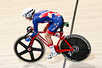 Picture by Charlie Forgham-Bailey/SWpix.com - 02/03/2018 - 2018 UCI Track Cycling World Championships, Apeldoorn,The Netherlands, Day 3 - Women's omnium Elimination Race - Elinor Barker of Great Britain ripped skin suit