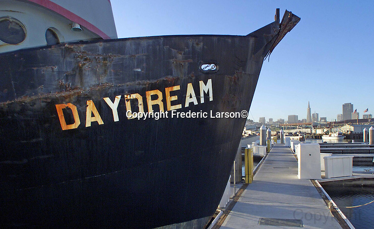 "The ""Daydream"" a commercial fishing boat at Fisherman's Wharf in San Francisco."