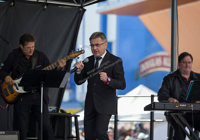 Moreno Fruzzetti performs during the Italian Festival held in downtown Reno outside of the Eldorado Hotel and Casino on Sunday afternoon, October 7, 2018.