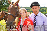 Tim Hurley and Shona Roche Tralee who won the red ribbon at the Kilgarvan agricultural show on Sunday.