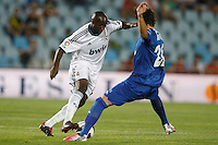 26.08.2012 SPAIN -  La Liga 12/13 Matchday 2th  match played between Getafe C.F. vs Real Madrid CF (0-0) at Alfonso Perez stadium. The picture show  Lassana Diarra (French midfielder of Real Madrid)