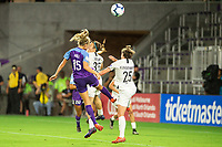 Orlando, FL - Saturday May 11, 2019: A NWSL regular season match between the Orlando Pride and the Portland Thorns FC at Orlando City Stadium.