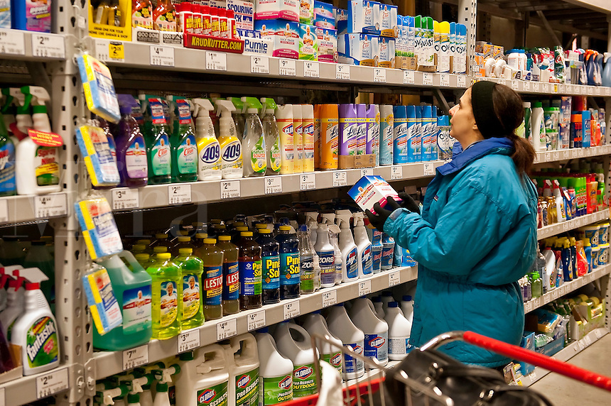 Cleaning products in a store.