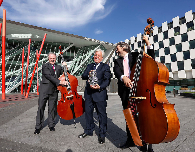 Allianz Business to Arts Awards 2012..Brendan Murphy, CEO Allianz Ireland (left) with John Reynolds, CEO KBC Bank Ireland and Stuart McLaughlin, Chief Executive of Business to Arts, pictured at the Bord Gais Energy Theatre, for the launch of the Allianz Business to Arts Awards 2012.