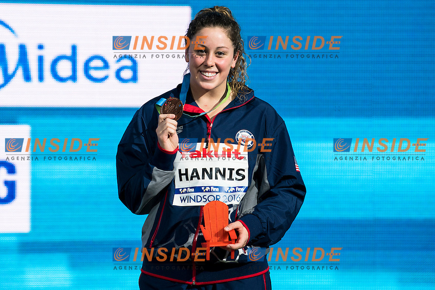 HANNIS Molly USA Bronze Medal<br /> Women's 100m Breaststroke<br /> 13th Fina World Swimming Championships 25m <br /> Windsor  Dec. 10th, 2016 - Day05 Final<br /> WFCU Centre - Windsor Ontario Canada CAN <br /> 20161210 WFCU Centre - Windsor Ontario Canada CAN <br /> Photo &copy; Giorgio Scala/Deepbluemedia/Insidefoto