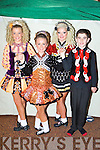Dancing in the Oireachtas Rince na Mumhan in the INEC on Saturday were l-r: Rachel O'Connell Caherciveen, Shannon Foley Killorglin, Niamh Keane Killorglin and Ciaran Quigley Killarney