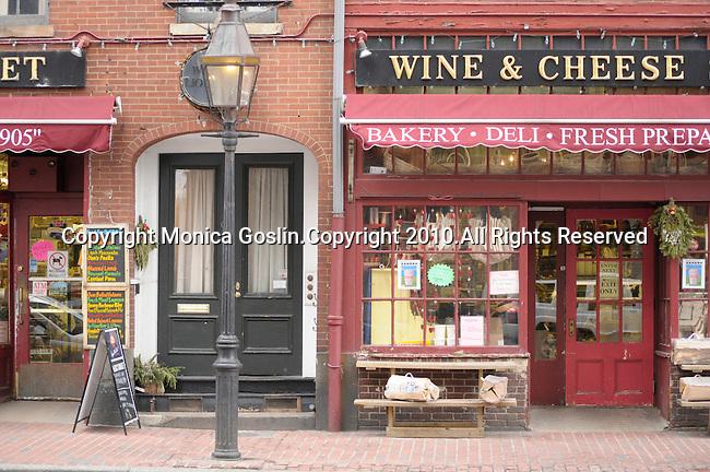 A small market and deli in Beacon Hill in Boston, MA.