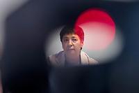 Pressekonferenz der Menschenrechtsorganisation &quot;Terre des Femmes&quot; am Donnerstag den 23. August 2018 in Berlin, anlaesslich ihrer Petition &quot;Den Kopf frei haben!&quot;, die sich fuer ein Verbot des sogenannten &quot;Kinderkopftuch&quot; fuer Maedchen unter 18 Jahren einsetzt. Fuer Terre des Femmes ist das Kinderkopftuch der Missbrauch von Kindern fuer eine Religion und eine Kinderrechtsverletzung.<br /> Ziel der Unterschriftensammlung fuer die Petition sind 100.000 Unterschriften.<br /> Im Bild: Seyran Ates, Rechtsanwaeltin und Imamin an der liberalen Ibn-Rushd-Goethe-Moschee in Berlin.<br /> 23.8.2018, Berlin<br /> Copyright: Christian-Ditsch.de<br /> [Inhaltsveraendernde Manipulation des Fotos nur nach ausdruecklicher Genehmigung des Fotografen. Vereinbarungen ueber Abtretung von Persoenlichkeitsrechten/Model Release der abgebildeten Person/Personen liegen nicht vor. NO MODEL RELEASE! Nur fuer Redaktionelle Zwecke. Don't publish without copyright Christian-Ditsch.de, Veroeffentlichung nur mit Fotografennennung, sowie gegen Honorar, MwSt. und Beleg. Konto: I N G - D i B a, IBAN DE58500105175400192269, BIC INGDDEFFXXX, Kontakt: post@christian-ditsch.de<br /> Bei der Bearbeitung der Dateiinformationen darf die Urheberkennzeichnung in den EXIF- und  IPTC-Daten nicht entfernt werden, diese sind in digitalen Medien nach &sect;95c UrhG rechtlich geschuetzt. Der Urhebervermerk wird gemaess &sect;13 UrhG verlangt.]