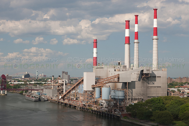 The TransCanada Ravenswood Generating Station, located in Long Island City, New York viewed from the Queensboro Bridge.