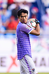 Goalkeeper Siwarak Tedsungnoen of Thailand reacts during the AFC Asian Cup UAE 2019 Group A match between Bahrain (BHR) and Thailand (THA) at Al Maktoum Stadium on 10 January 2019 in Dubai, United Arab Emirates. Photo by Marcio Rodrigo Machado / Power Sport Images