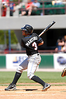 OF Fernando Martinez of the Buffalo Bisons, the AAA International League affiliate of the New York Mets, in action at McCoy Stadium in Pawtucket, RI 5-19-09 (Photo by Ken Babbitt/Four Seam Images)