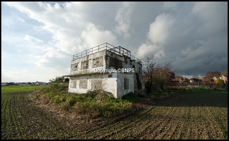 BNPS.co.uk (01202 558833)<br /> Pic:PhilYeomans/BNPS<br /> <br /> Sadly neglected - the historic WW2 control tower at Tangmere is in a terrible state.<br /> <br /> A campaign has been launched to restore a historic Second World War airfield control tower which has fallen into an alarming state of disrepair.<br /> <br /> RAF Tangmere in West Sussex was one of Britain's most important airfields during the Battle of Britain and was the base of double amputee flying ace Douglas Bader.<br /> <br /> It closed down in 1970 and most of its buildings were knocked down to create room for houses.<br /> <br /> Sadly, all that remains of the iconic watch tower today is a dilapidated shell covered in graffiti in the middle of an overgrown field.