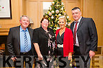 l-r  Tom Thornton, Mary Thornton, Bernie O'Keeffe and Eoin O'Keffe from SSC Tarbert enjoying the Titanic themed  Christmas party at  Ballygarry House Hotel on Friday