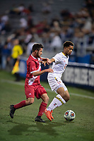Santa Barbara, CA - Friday, December 7, 2018:  Maryland men's soccer defeated Indiana 2-0 in a semi-final match in the 2018 College Cup.  Andrew Samuels.