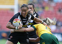 New Zealand's Honey Hireme attacks during the women's Rugby League World Cup final between Australia and New Zealand, Suncorp Stadium, Brisbane, Australia, 2 December 2017. Copyright Image: Tertius Pickard / www.photosport.nz MANDATORY CREDIT/BYLINE : Tertius Pickard/SWpix.com/PhotosportNZ