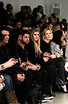 Jeremy Jackson & Kelly Rutherford front row at Jungwon Fashion Show presented by RUSK during the fall/winter 2014 Nolcha Fashion Week - spotlighting independent designers on February 12, 2014 at Pier 59, New York City, New York.  (Photo by Sue Coflin/Max Photos)