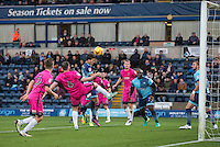 Scott Kashket of Wycombe Wanderers battles for the ball  during the Sky Bet League 2 match between Wycombe Wanderers and Hartlepool United at Adams Park, High Wycombe, England on 26 November 2016. Photo by Andy Rowland.