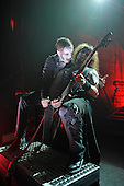 POWERWOLF - keyboardist Falk Maria Schlegel and guitarist Matthew Greywolf - performing live at the Empire in Shepherds Bush London UK - 03 Feb 2017.  Photo credit: Zaine Lewis/IconicPix