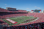 A general view of Camp Randall Stadium during a Wisconsin Badgers NCAA Big Ten Conference football game against the Maryland Terrapins Saturday, October 21, 2017, in Madison, Wis. The Badgers won 38-13. (Photo by David Stluka)
