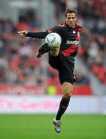 FUSSBALL   1. BUNDESLIGA   SAISON 2011/2012    2. SPIELTAG Bayer 04 Leverkusen - SV Werder Bremen              14.08.2011 Gonzalo CASTRO (Bayer 04 Leverkusen) Einzelaktion am Ball