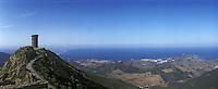 Europe/France/Languedoc-Roussillon/66/Pyrénées-Orientales/Env de Collioure: Tour et Balcon de Madeloc - Panorama sur la Cote Vemeille