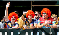 Hull KR fans pose for a photo whilst enjoying a drink<br /> <br /> Photographer Alex Dodd/CameraSport<br /> <br /> Betfred Super League Round 15 - Magic Weekend - Saturday 19th May 2018 - St James' Park - Newcastle<br /> <br /> World Copyright &copy; 2018 CameraSport. All rights reserved. 43 Linden Ave. Countesthorpe. Leicester. England. LE8 5PG - Tel: +44 (0) 116 277 4147 - admin@camerasport.com - www.camerasport.com