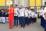 Japan Delegation (JPN), <br /> AUGUST 16, 2018 : Welcome Ceremony for the Japanese delegation at Athlete's Village during the 2018 Jakarta Palembang Asian Games in Jakarta, Indonesia. (Photo by MATSUO.K/AFLO SPORT)