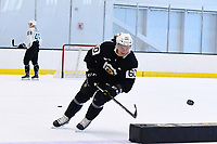 June 26, 2018: Boston Bruins defenseman Teemu Kivihalme (60) skates during the Boston Bruins development camp held at Warrior Ice Arena in Brighton Mass. Eric Canha/CSM