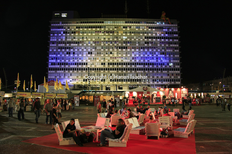 Israel, Tel Aviv-Yafo, the Book fair at Rabin square