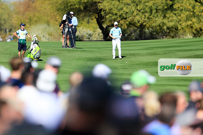 Emiliano Grillo (ARG) on the 2nd fairway during the 2nd round of the Waste Management Phoenix Open, TPC Scottsdale, Scottsdale, Arisona, USA. 01/02/2019.<br /> Picture Fran Caffrey / Golffile.ie<br /> <br /> All photo usage must carry mandatory copyright credit (&copy; Golffile | Fran Caffrey)