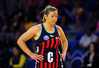 Tactix captain Anna Thompson during the ANZ Netball Championship match between the Central Pulse and Mainland Tactix at Te Rauparaha Arena, Wellington, New Zealand on Saturday, 11 May 2015. Photo: Dave Lintott / lintottphoto.co.nz