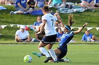 Kansas City, MO - Saturday July 16, 2016: Christine Nairn, Shea Groom during a regular season National Women's Soccer League (NWSL) match between FC Kansas City and the Washington Spirit at Swope Soccer Village.