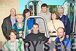 Personal trainer Craig Clifford shows committee members how to lift weights safely at the open day of Castlemaine Community Gym on Saturday front row l-r: Vera Kerrisk, Craig Clifford, Ger Ladden. Back row: Nigel Baldock, Nell Kelleher, Katie O'Shea, James Nagle, Chris O'Shea and Michael O'Shea t