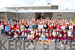 Pupils and staff from Duagh NS give retiring principal Joe Kirby and teacher Bernie Sheehy (whose leaving to take up the Principal's position in Listowel NS) a huge send off on Wednesday   Copyright Kerry's Eye 2008