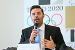 Jason Belmonte,  AUGUST 7, 2015 :  World Bowling (WB)  holds a media conference following its interview  with the Tokyo 2020 Organising Committee in Tokyo Japan.  (Photo by YUTAKA/AFLO SPORT)