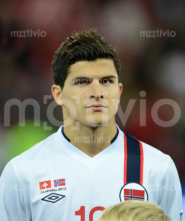 Fussball International  WM Qualifikation 2014   12.10.2012 Schweiz - Norwegen Tarik Elyounoussi (Norwegen)