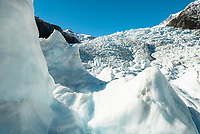 Beautiful Franz Josef Glacier, Westland Tai Poutini National Park, West Coast, UNESCO World Heritage Area, New Zealand, NZ