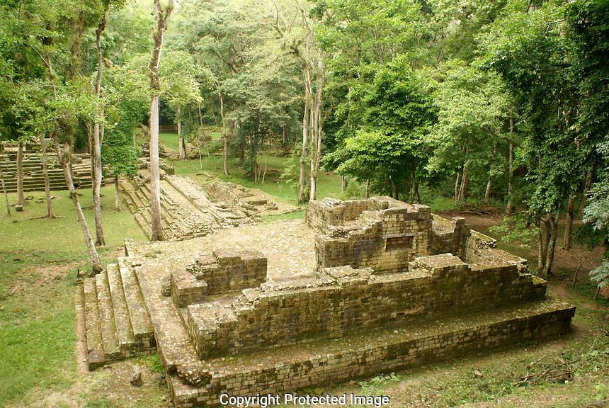 El Bosque complex at the Mayan ruins of Copan, Honduras. Copan is a UNESCO World Heritage Site.