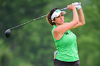 Gerina Piller (USA) watches her tee shot on 9 during Thursday's first round of the 72nd U.S. Women's Open Championship, at Trump National Golf Club, Bedminster, New Jersey. 7/13/2017.<br /> Picture: Golffile | Ken Murray<br /> <br /> <br /> All photo usage must carry mandatory copyright credit (&copy; Golffile | Ken Murray)