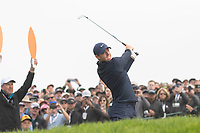 25th January 2020, Torrey Pines, La Jolla, San Diego, CA USA;  Rory McIlroy hits an iron during round 3 of the Farmers Insurance Open at Torrey Pines Golf Club on January 25, 2020