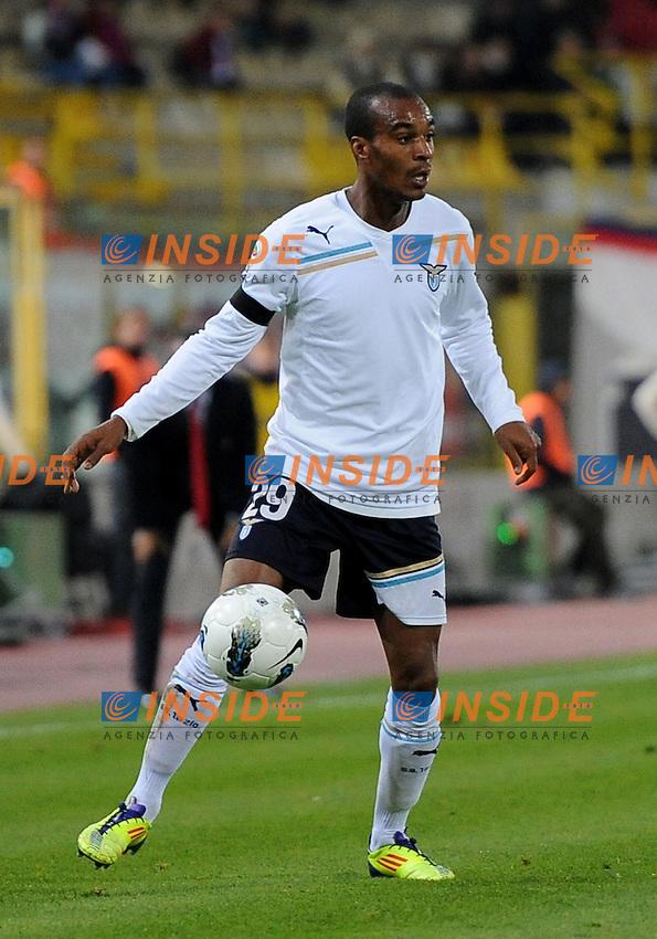 """Abdoulay KONKO (Lazio).Bologna 23/10/2011 Stadio """"Dallara"""".Serie A 2011/2012.Football Calcio Bologna Vs Lazio.Foto Insidefoto Alessandro Sabattini."""