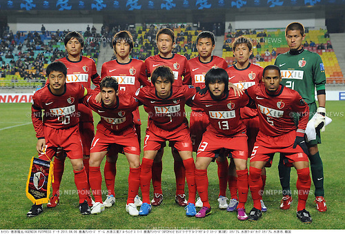 Kashima Antlers team group line-up, APRIL 6, 2011 - Football: AFC Champions League Group H match between Suwon Samsung Bluewings 1-1 Kashima Antlers at Suwon World Cup Stadium in Suwon, South Korea. (Photo by Takamoto Tokuhara/AFLO)
