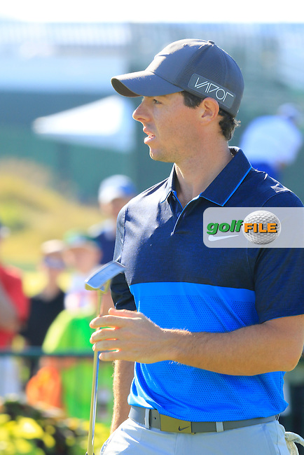 Rory MCILROY (NIR) feeling good and ready on the range during Tuesday's Practice Day of the 97th US PGA Championship 2015 held at Whistling Straits, Mosel, Kohler, Wisconsin, United States of America. 11/08/2015.<br /> Picture Eoin Clarke, www.golffile.ie
