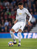 Chris Smalling of Man Utd during the Premier League match between Bournemouth and Manchester United at the Goldsands Stadium, Bournemouth, England on 18 April 2018. Photo by Andy Rowland.