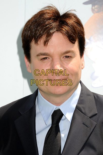 "MIKE MYERS .Attending the ""Shrek Forever After"" Los Angeles Film Premiere held at the Gibson Amphitheatre, Universal City, California, USA, 16th May 2010..arrivals portrait headshot black grey gray tie blue shirt suit .CAP/ADM/BP.©Byron Purvis/AdMedia/Capital Pictures."