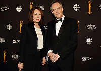 March 17,  2013 File Photo - Nathalie Baye (L),Yves Jacques (R)<br /> attend the 2013 Jutras Gala