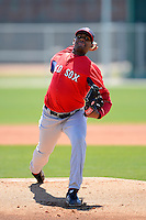 Boston Red Sox pitcher Mario Alcantara #71 during a minor league Spring Training game against the Minnesota Twins at JetBlue Park Training Complex on March 27, 2013 in Fort Myers, Florida.  (Mike Janes/Four Seam Images)